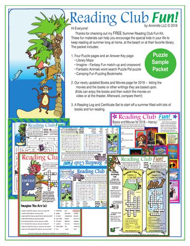 Summer Reading Kit (Free Mega Bundle) by ReadingClubFun
