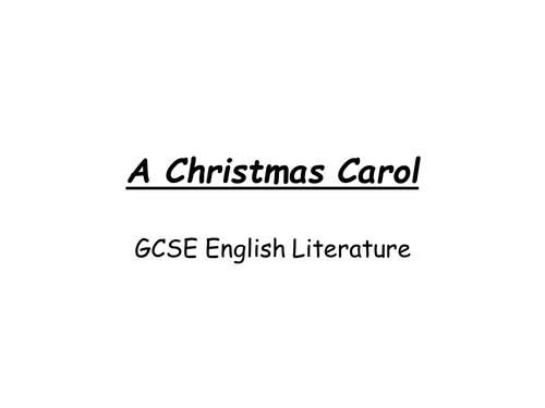 A Christmas Carol GCSE Revision PowerPoint | Teaching Resources