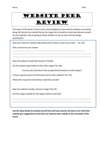 Website Peer Review