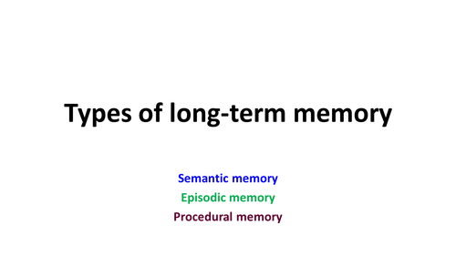 A Level TYpes of Long term memory