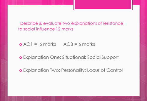 Resistance to social influence using PEEL