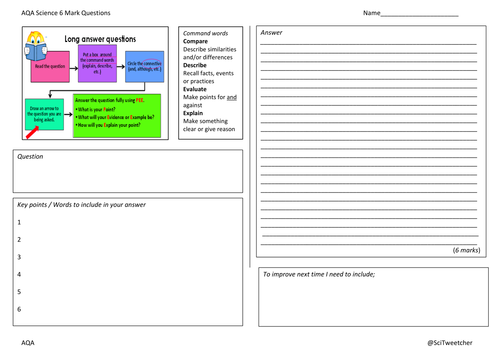 Tackling aqa 6 mark questions by scitweetcher teaching resources tes publicscrutiny Images