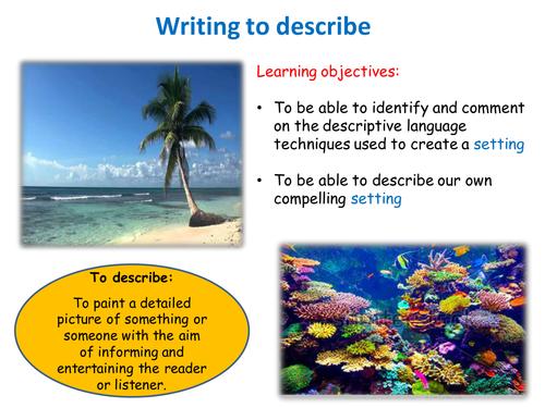 Describing a setting - KS4