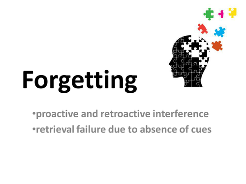 Theories of forgetting AQA