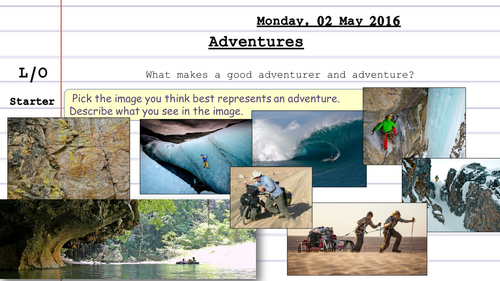 Adventure and Exploration Scheme of Work