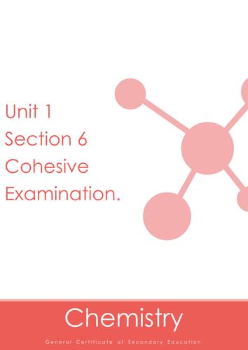 Nubila Education | GCSE Chemistry | Unit 1 Section 6 Cohesive Examination