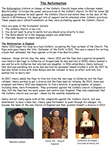 essay on why henry viii broke from rome