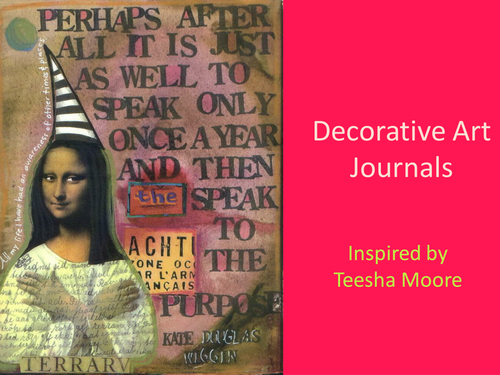 Art Journal inspired by Teesha Moore