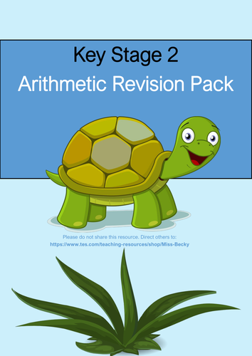 Year 6 Arithmetic Revision Pack - KS2 Maths SATs