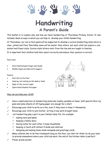 Handwriting Guide for Parents