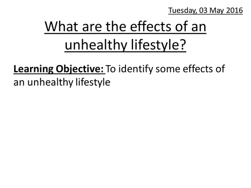 The effects of an unhealthy lifestyle.