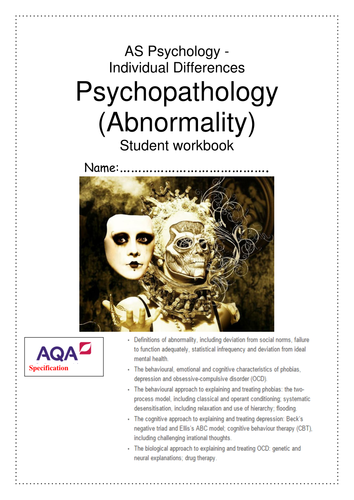 Abnormality Workbook AQA AS New Specification