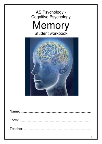 Memory Workbook AQA AS New Specification