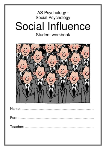 Social Influence Workbook AQA AS New Specification