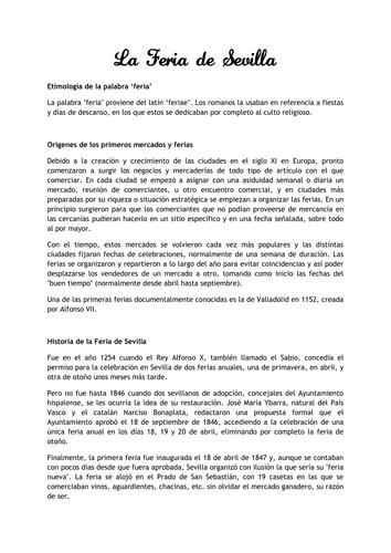 La Feria de Sevilla + activities