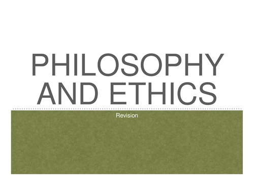 A2 OCR Philosophy and Ethics/Religious Studies  Revision Powerpoint