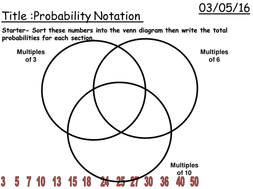 KS3 Probability Homework by fintansgirl Teaching Resources Tes – Venn Diagram Probability Worksheet