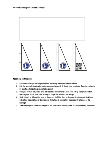Air Rocket Investigation by BIS-Space - Teaching Resources - Tes