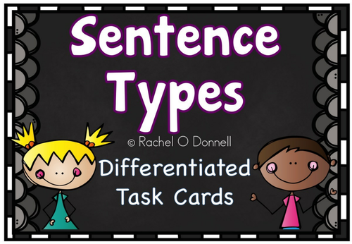 Types of Sentences Task Cards Differentiated