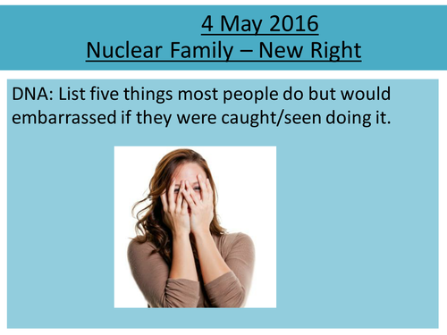 Sociology H580 / H180 Nuclear Family: New Right