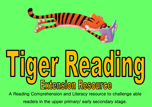 Tiger Reading- Purple Level- comprehension and literacy task cards for able readers