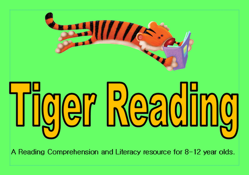 Tiger Reading- Blue Level- reading comprehension and literacy task cards for primary pupils