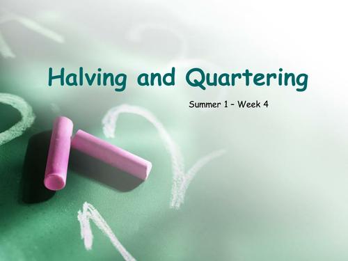 KS1 Halving and Quartering