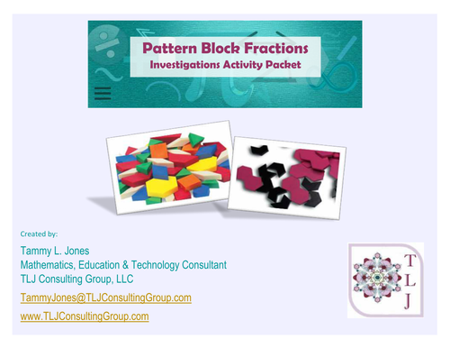 Pattern Block Fractions: Investigations Activity Packet