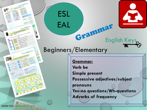 ESL/EAL Grammar recap for beginners - Grammar Unit1/Lesson5 (Lesson +  Exercices) No Prep