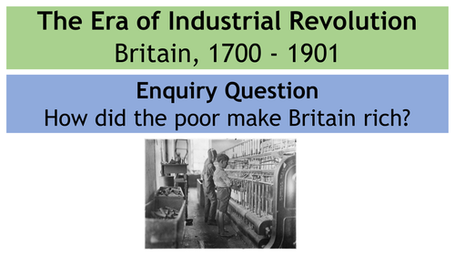 Who were the White Slaves? (Industrial Revolution Lesson on Child Labourers in factories)