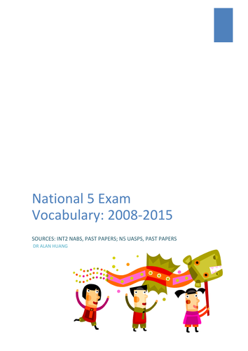 National 5 Exam Vocabulary: Grammar – Conjunctions, Measures Words, Structures, Tenses, and Question