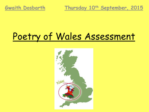 WJEC English Literature Welsh Writing in Wales-John Ormond 'In September' and Gillian Clarke 'My Box