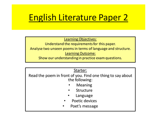 aqa igcse english literature past papers Gcse past papers gcse reform and home  gcse study tools  english literature  gcse aqa english poetry conflict tips for aqa gcse english literature poetry.