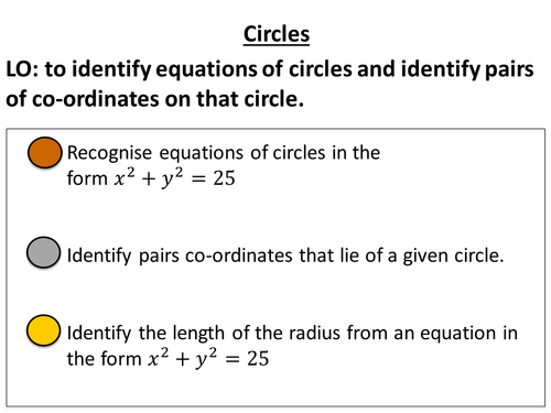 Introducing and identify equations of circles by jessicawalter – Equations of Circles Worksheet