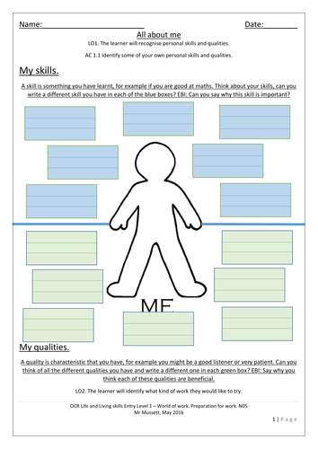 All Worksheets » Free Employability Skills Worksheets - Free ...