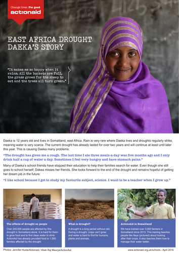 Effects of Drought: Daeka's story