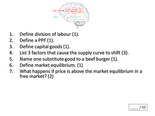 Theme 1 Edexcel - PED and YED