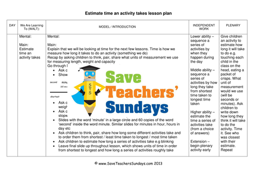 SaveTeachersSundays's Shop - Teaching Resources - TES