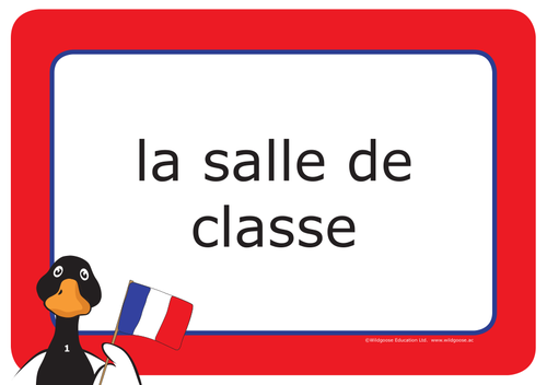 French School Labels