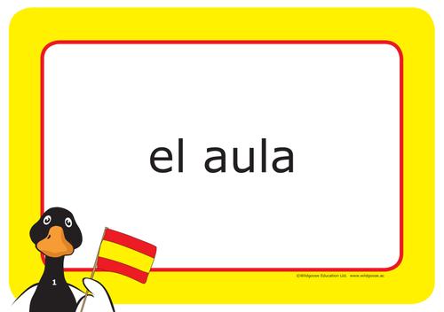 Spanish School Labels