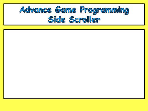 Scratch - Side scroller