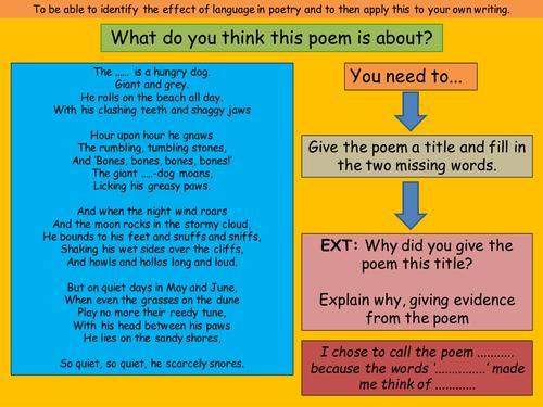 KS3: Metaphor Poems