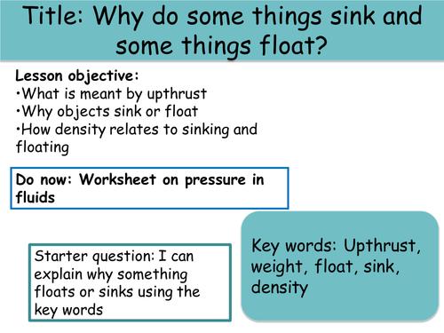 Buoyancy Forces by paultyler Teaching Resources TES – Buoyancy Worksheet