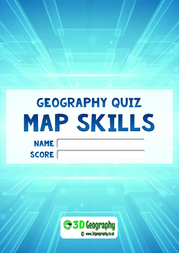 Map Quiz - complete with answer scheme