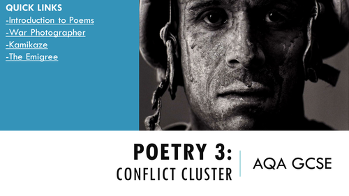 AQA GCSE Poetry Conflict and Power Every Poem Lessons