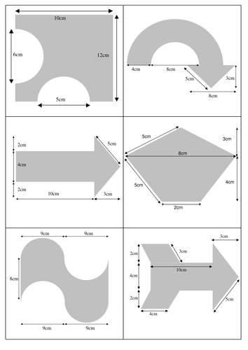Area and perimeter of compound shapes (matching activity) by ...