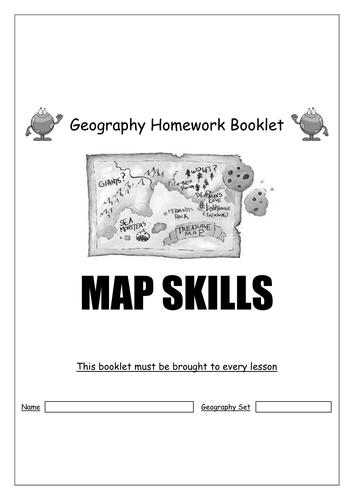 Map Skills Homework Booklet Geography By Sbladen Teaching - Skills worksheet map skills us crops answers