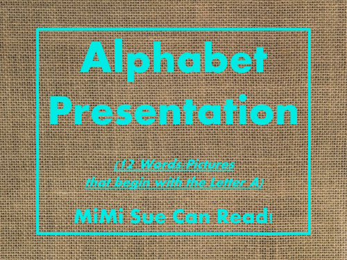 FREE! Letter A Alphabet PowerPoint Fun & Colorful Words w/Pictures (Expandable)