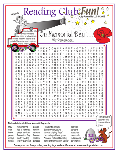 Memorial Day Word Search Puzzle | Teaching Resources