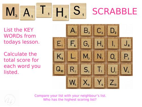 Scrabble Key Words (Literacy)